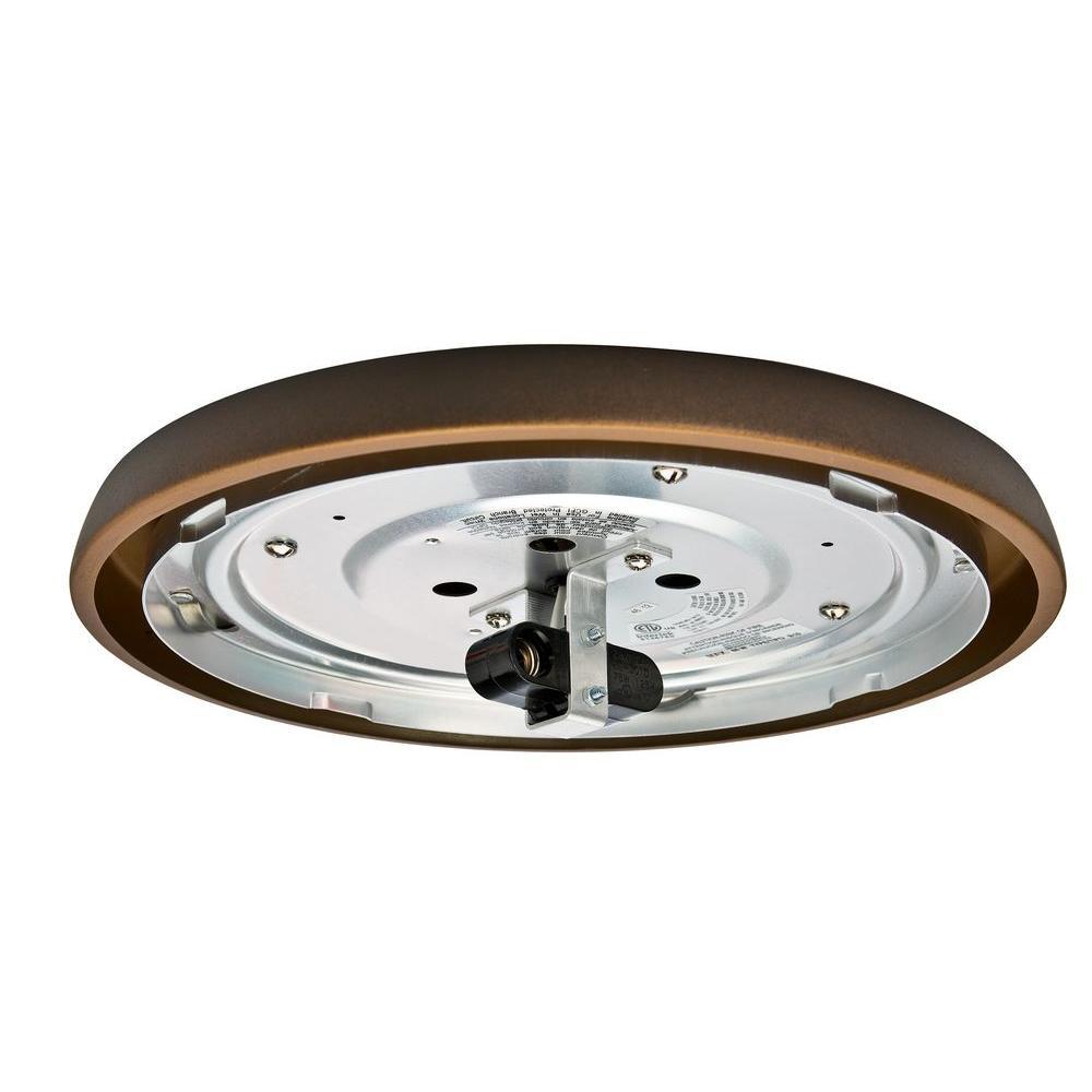 2.25 in. Maiden Bronze Incandescent Low Profile Fitter-Wet Ceiling Fan Light