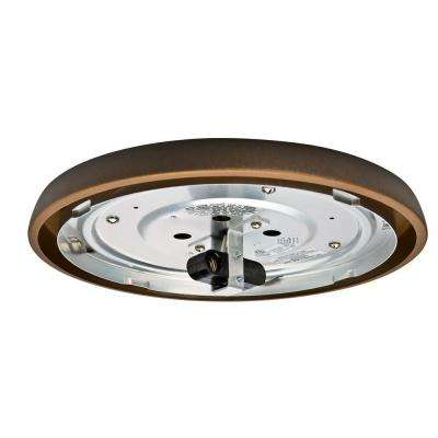 2.25 in. Maiden Bronze Incandescent Low Profile Fitter-Wet Ceiling Fan Light Kit