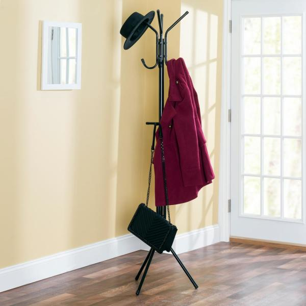 Home Basics Black Coat Rack CR41166