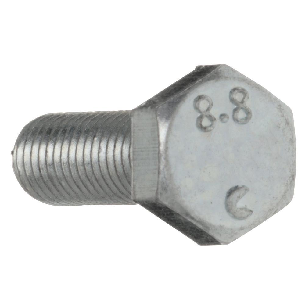 Everbilt 8 Mm 1 25 X 25 Mm Zinc Plated Metric Hex Bolt 35978 The Home Depot