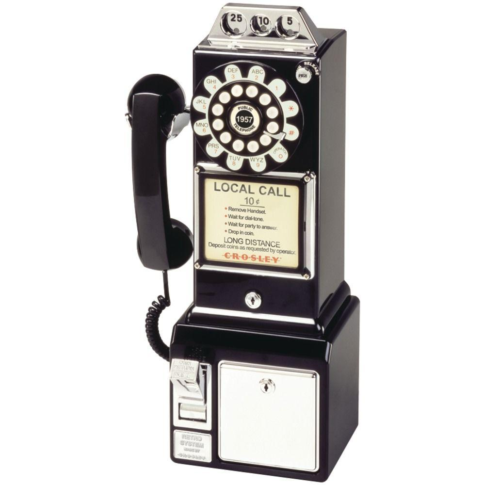 Crosley 1950'S Analog Classic Pay Phone-DISCONTINUED