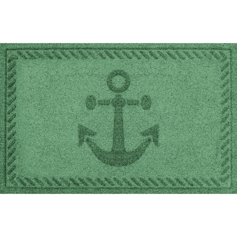 Light Green 24 in. x 36 in. Ships Anchor Polypropylene Door Mat