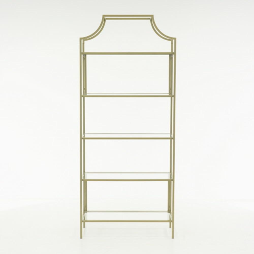 International Lux Satin Gold Bookcase