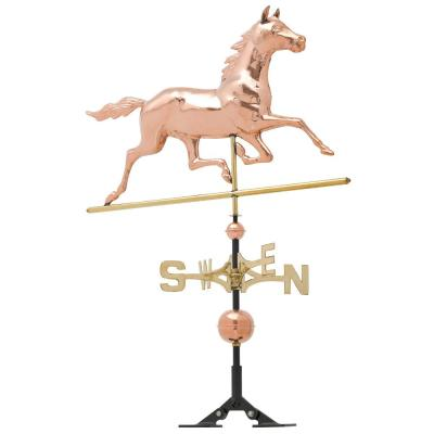 48 in. Polished Horse Copper Weathervane