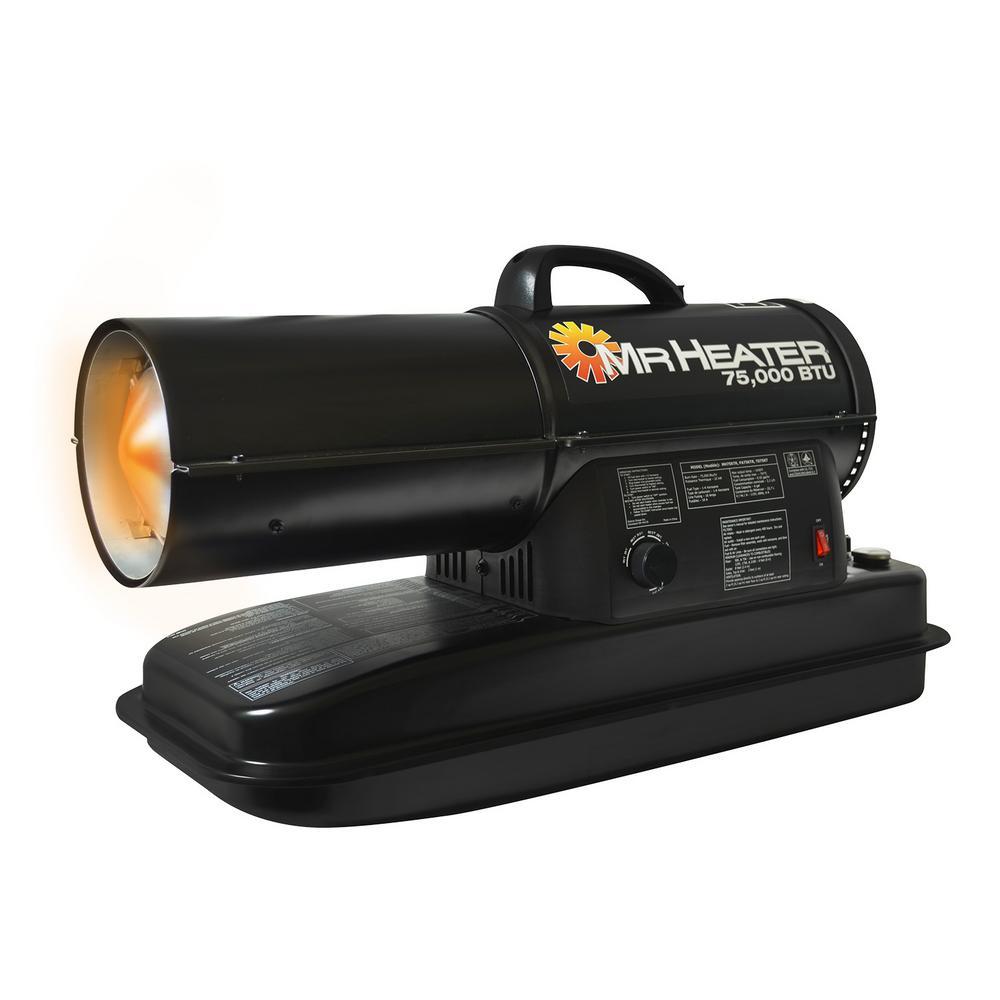 Mr. Heater 75,000 BTU Forced Air Kerosene Heater-MH75KTR ...