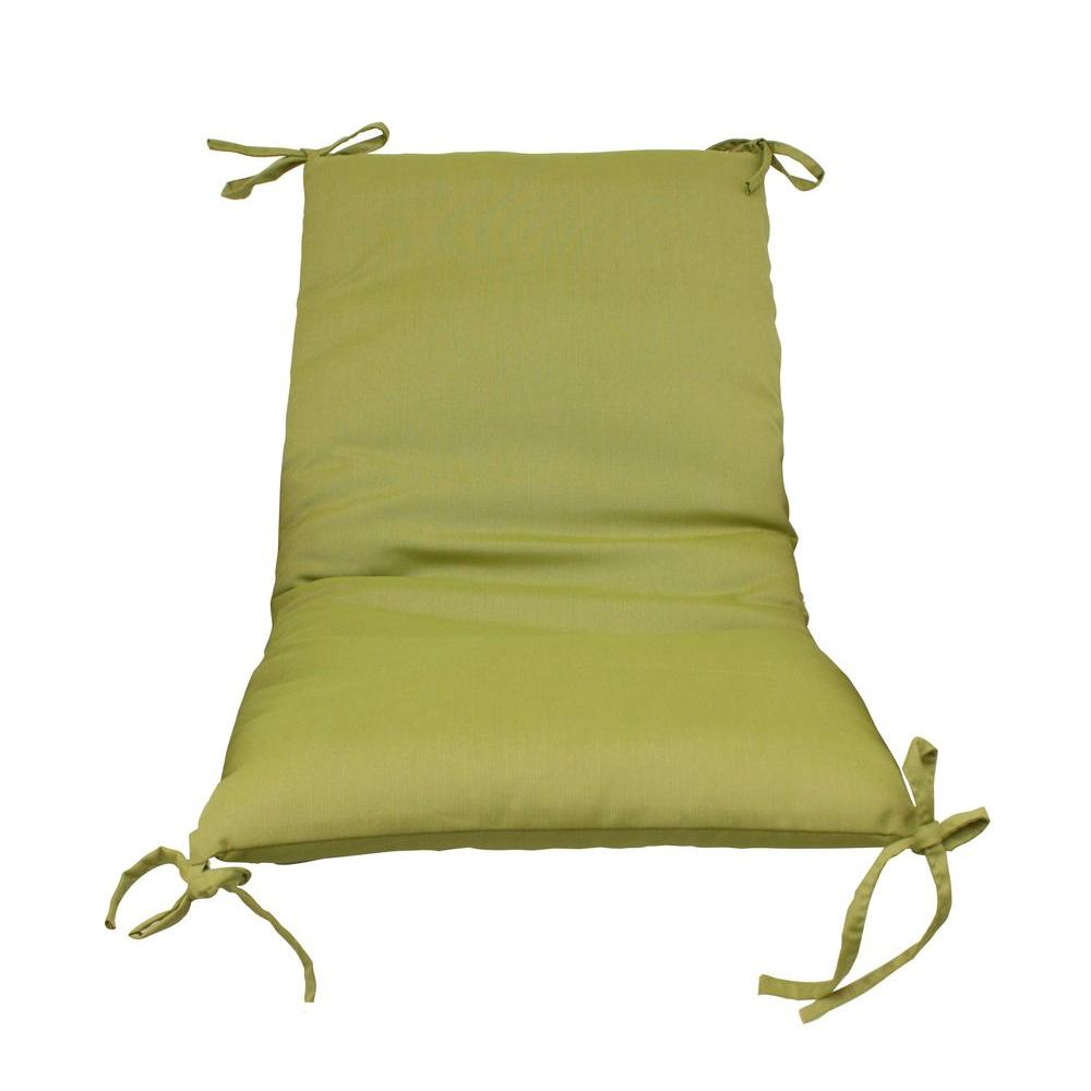 Superbe Paradise Cushions Green Solid Outdoor Sling Chair Cushion (2 Pack)