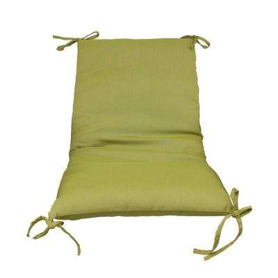 Green Solid Outdoor Sling Chair Cushion (2-Pack)