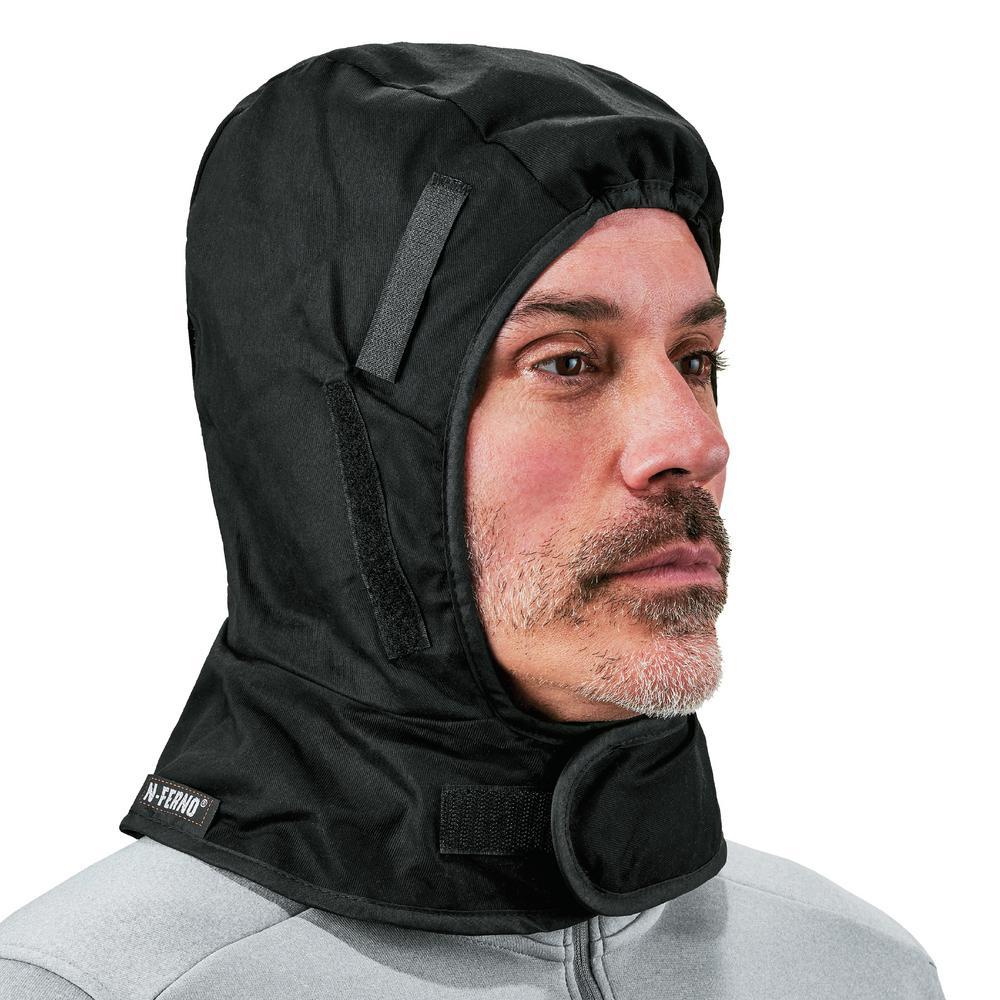 N-Ferno Shoulder Black 2-Layer Winter Hard Hat Liner