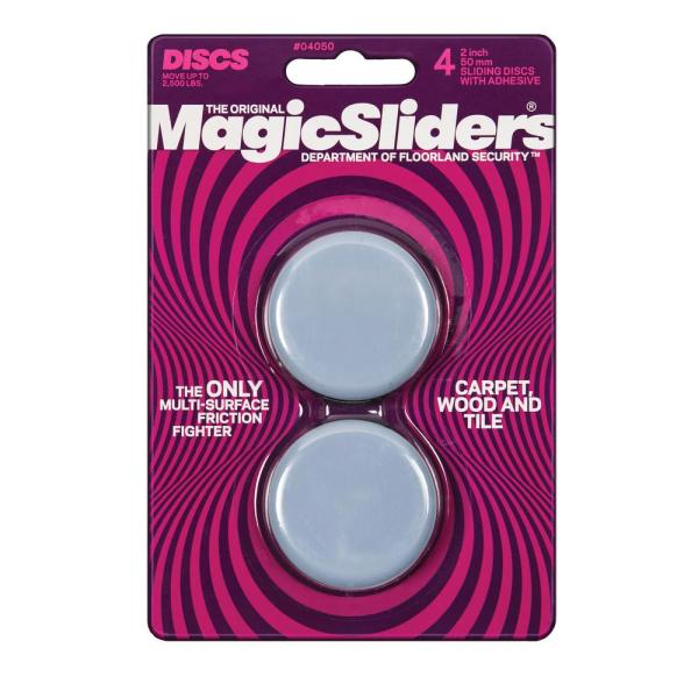 2 in. Round Magic Sliders (4-Pack)