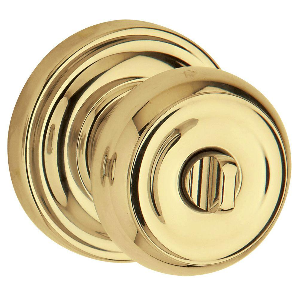 Baldwin Colonial Polished Brass Bed/Bath Knob-DISCONTINUED