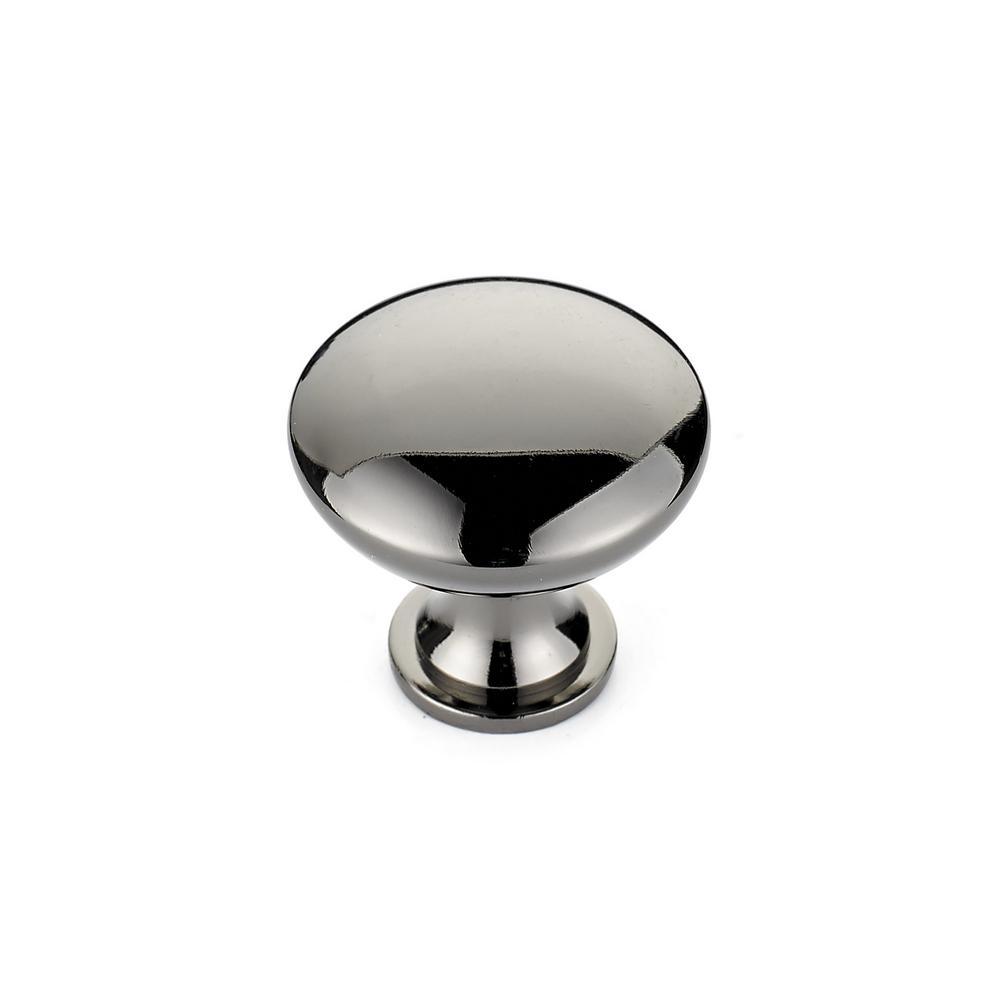 Richelieu Hardware Contemporary And Modern 1 1/8 In. Black Nickel Cabinet  Knob