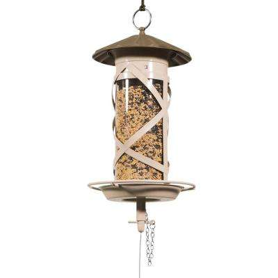 500 Series Brown/Tan Medium Barrel Mixed Seed Glass Feeder