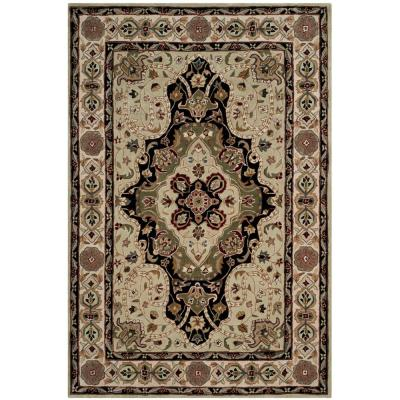 Total Performance Soft Green/Ivory 9 ft. x 12 ft. Area Rug