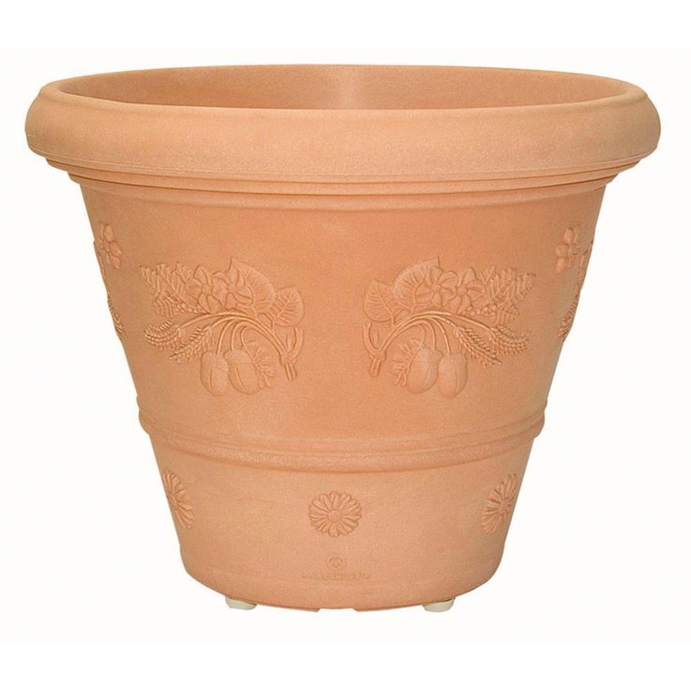 Marchioro 15.75 in. x 12.5 in. Terra Cotta Plastic Planter Pot
