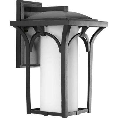 Promenade Collection 1-Light Black Outdoor Wall Lantern