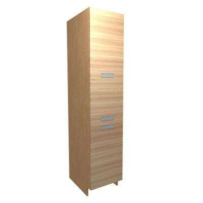 Genoa Ready to Assemble 18 x 84 x 24 in. Pantry/Utility Cabinet in Beach