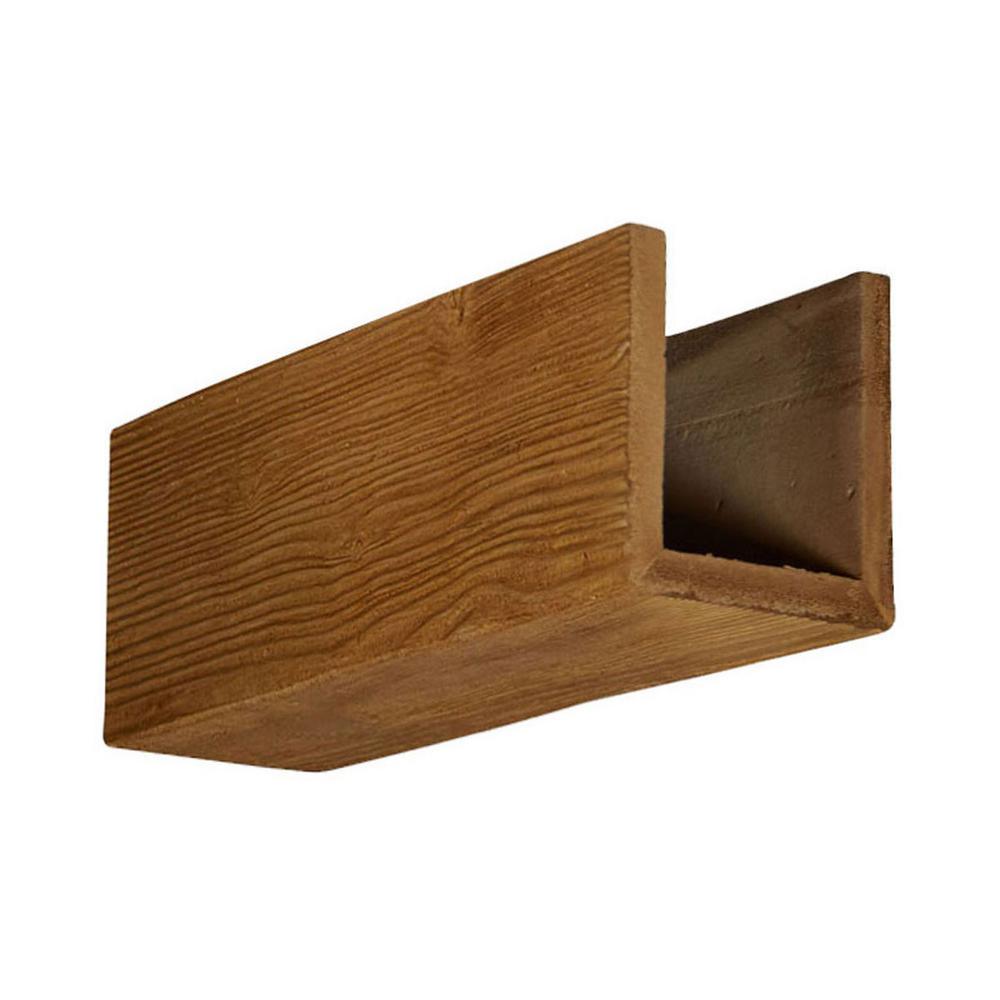 6 in. x 6 in. x 12 in. 3 Sided (U-Beam) Sandstone Puritan Pine Endurathane Faux Wood Ceiling Beam Premium Sample