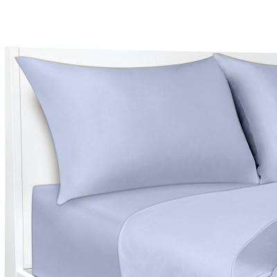 COOLMAX Blue 300 Thread Count 20 in. x 40 in. Pillowcases (2-Pack)