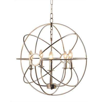 Infinity 5-Light Nickel Plated Mini Chandelier