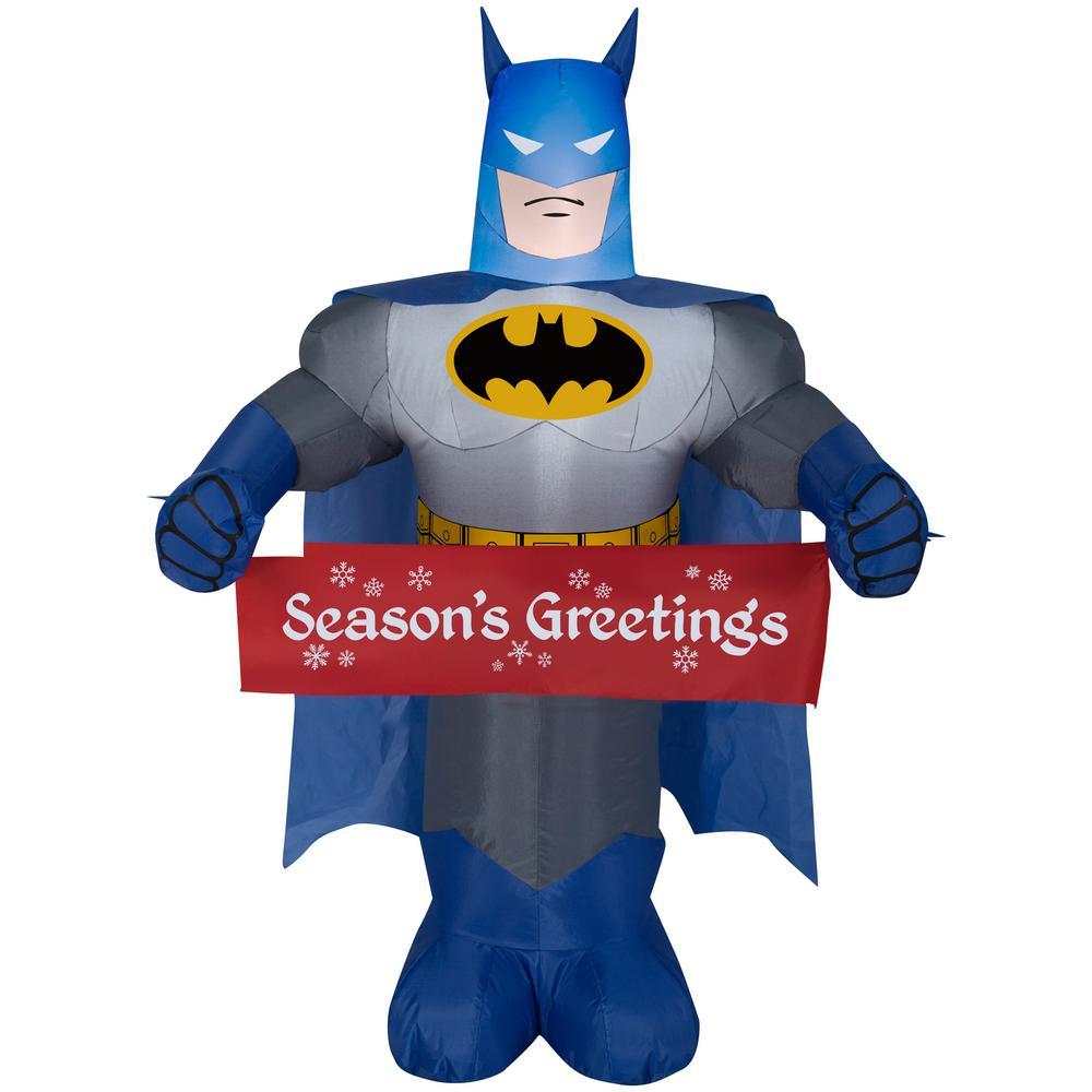 Batman Christmas.Gemmy 3 5 Ft Inflatable Batman With Banner