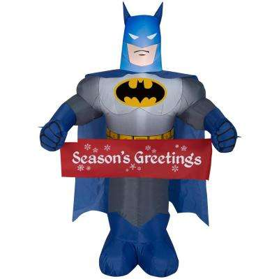 3.5 ft.  Inflatable Batman with Banner