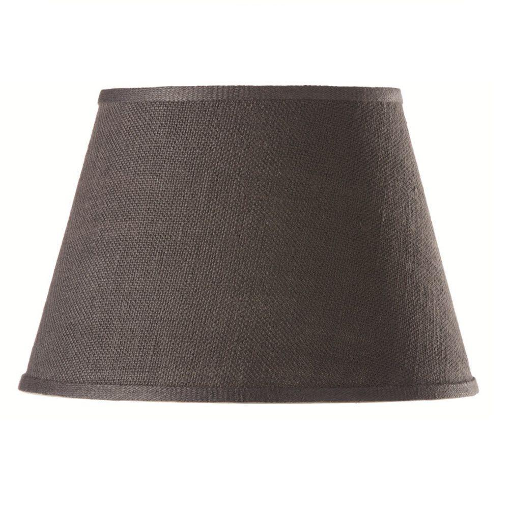 null Empire 11 in. H x 18 in. W Large Charcoal Burlap Shade