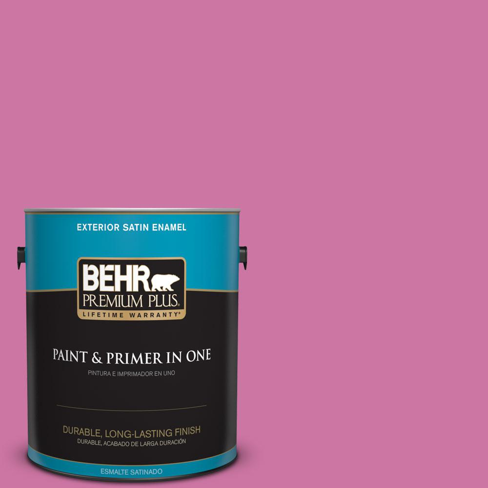 BEHR Premium Plus 1-gal. #P120-4 Heart Breaker Satin Enamel Exterior Paint
