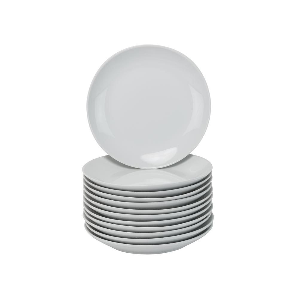 7.5 in. White Catering Pack Coupe Salad/Dessert Plates (Set of 12)