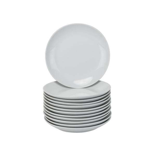 10 Strawberry Street 7.5 in. White Catering Pack Coupe Salad/Dessert Plates