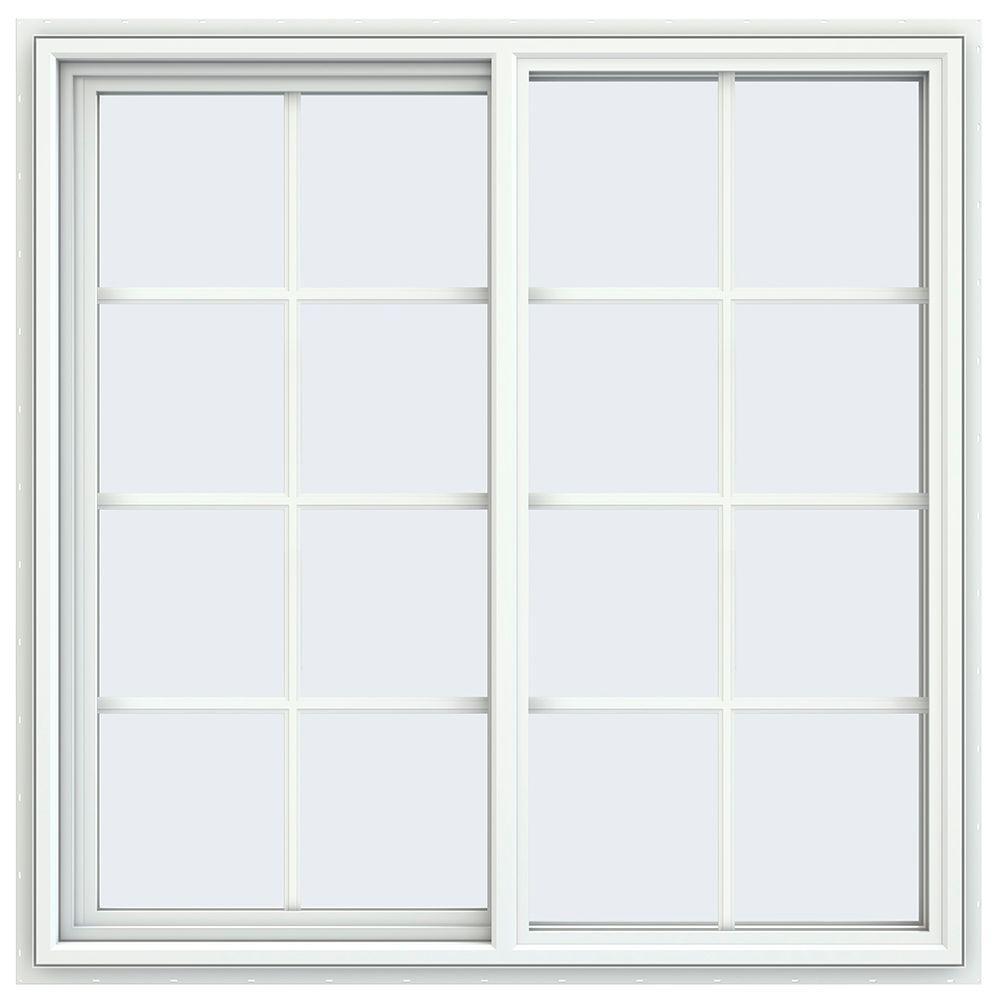 47.5 in. x 47.5 in. V-4500 Series Left-Hand Sliding Vinyl Window
