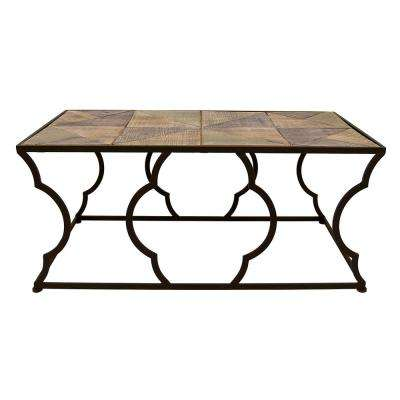 43.25 in. x 21.75 in. Bronze Metal/Wood Table