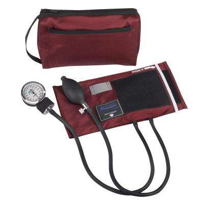 MatchMates Aneroid Sphygmomanometers Kit in Burgundy