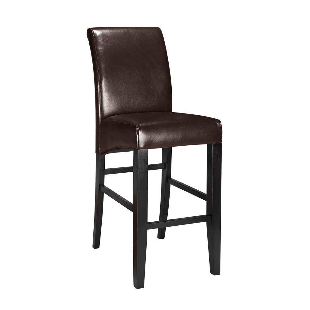Home Decorators Collection Parsons In Espresso Cushioned Bar Stool With Back 0238700800