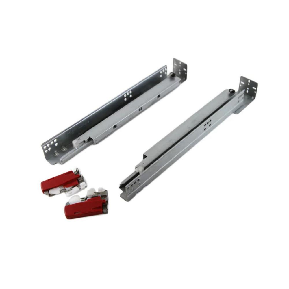 Kingsman Hardware 15 In Full Extension Under Mount Soft Close Ball Bearing Drawer Slide With