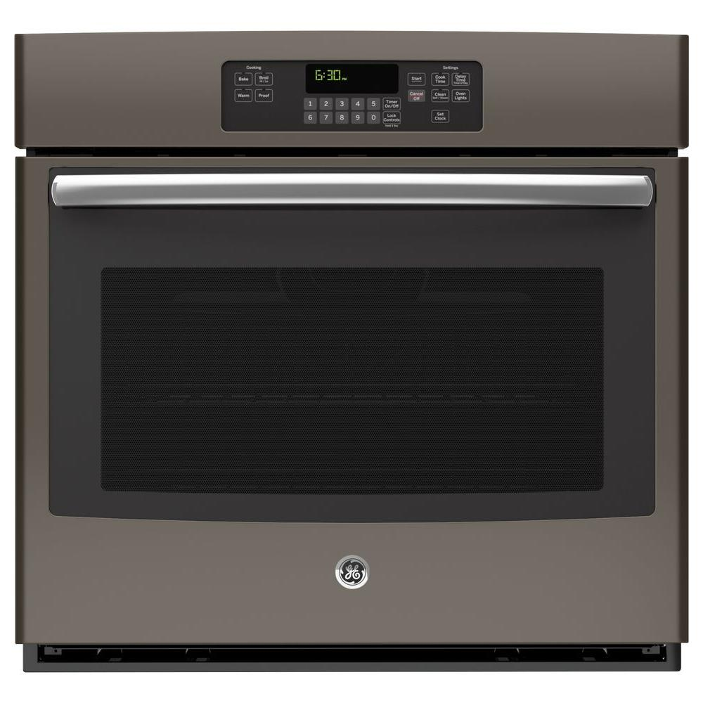 Single Electric Wall Oven Self Cleaning In Slate, Fingerprint  Resistant JT3000EJES   The Home Depot