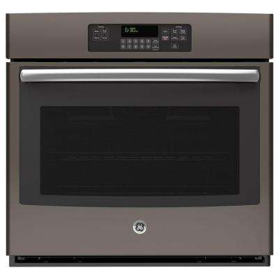 30 in. Single Electric Wall Oven Self-Cleaning in Slate, Fingerprint Resistant
