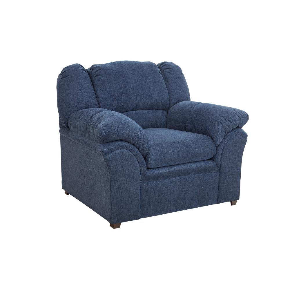 Big Ben Indigo Chenille Upholstered Chair