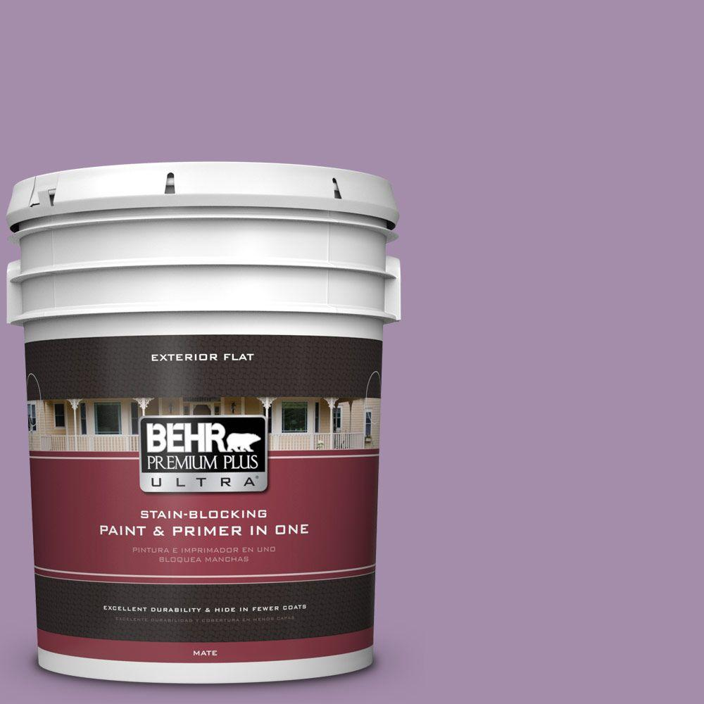 5-gal. #M100-4 Aged to Perfection Flat Exterior Paint
