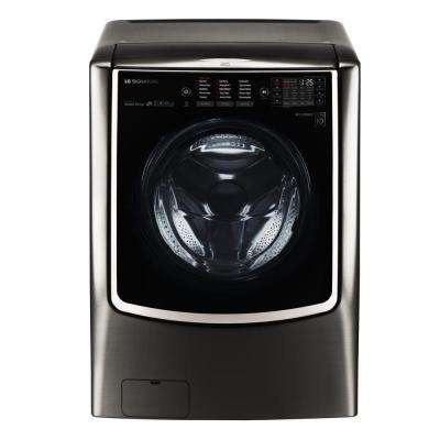 5.8 cu. ft. High-Efficiency Front Load Washer with TurboWash and Steam in Black Stainless Steel, ENERGY STAR