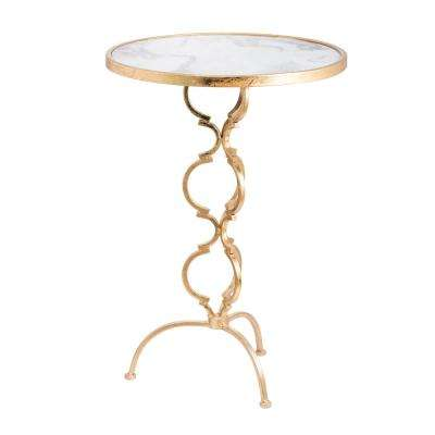 Charmain Gold Round Side Table