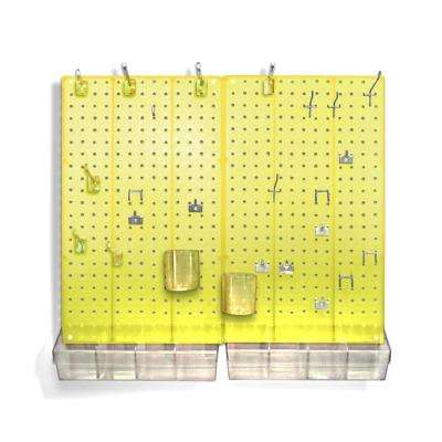 22 in. H x 27 in. W x 0.125 D Styrene Pegboard Kit (70-Pieces)