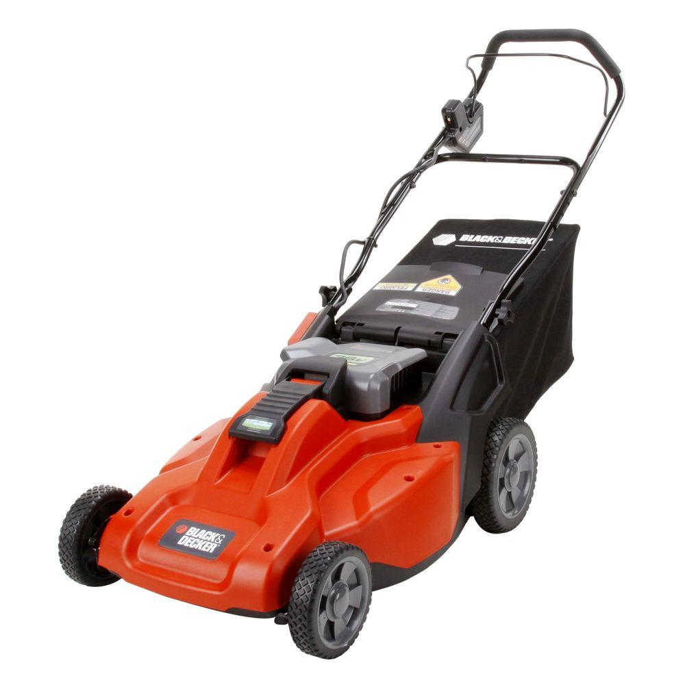 BLACK+DECKER 19 in. 36-Volt Cordless Electric Lawn Mower with Removable Battery