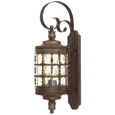 Mallorca 2-Light Vintage Rust Powder Coat Iron Outdoor Wall Mount