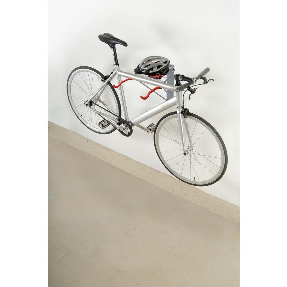 The Art of Storage Pablo Folding 2-Bike Silver Rack with Shelf Delta Cycle Corp