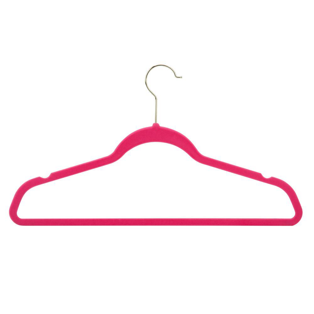 Velvet-Touch Suit Hanger in Pink (50-Pack)