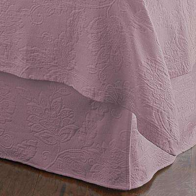 Putnam Matelasse Lilac King Bed Skirt