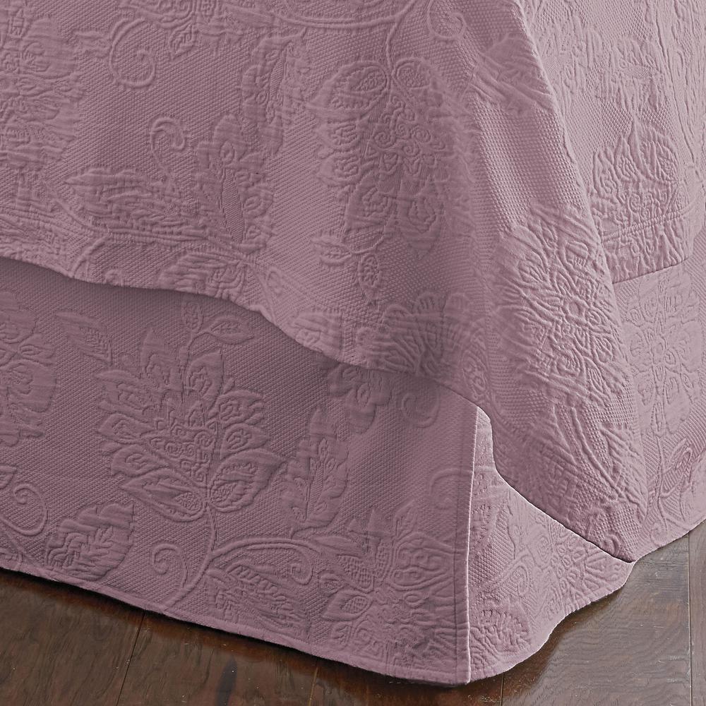 Putnam Matelasse Lilac Twin Bed Skirt