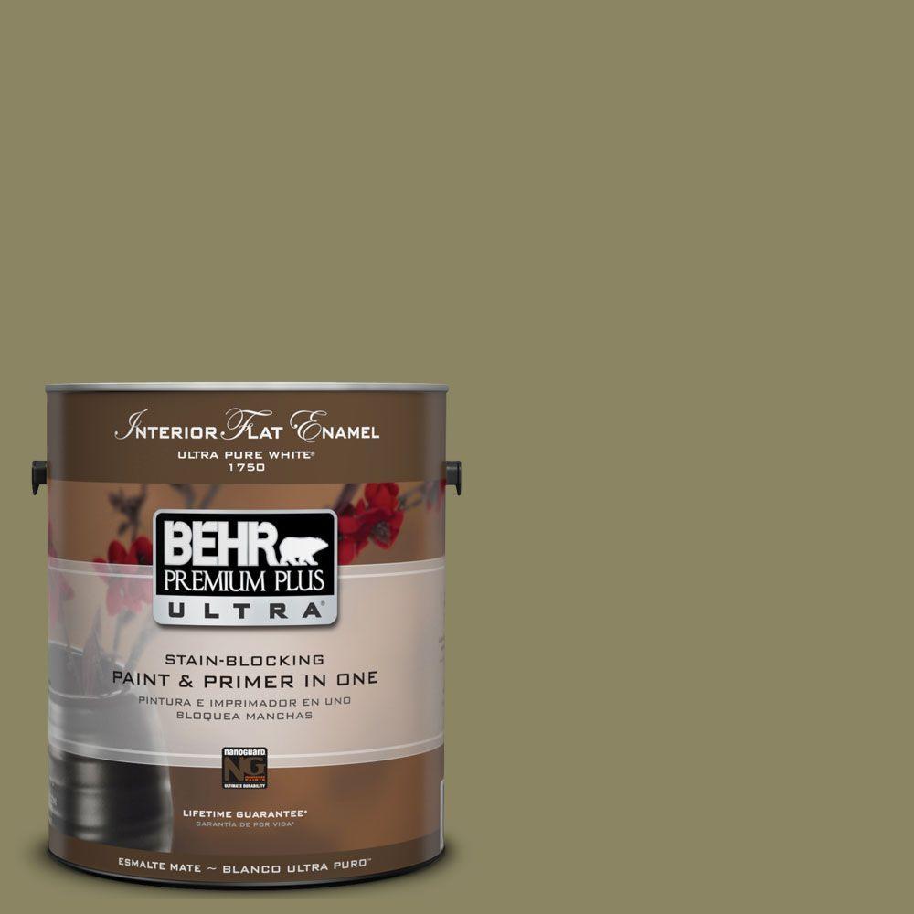 BEHR Premium Plus Ultra 1-Gal. #UL200-19 Oregano Spice Interior Flat Enamel Paint