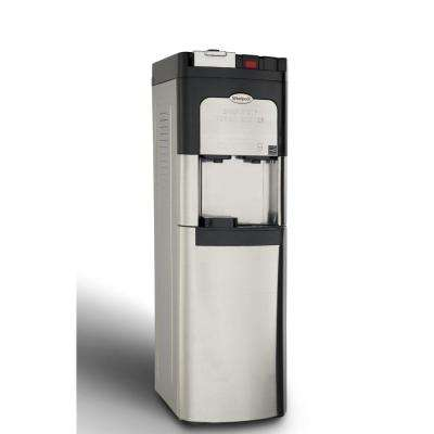 Single Cup Coffee Maker and Self-Cleaning Water Cooler in Stainless Steel