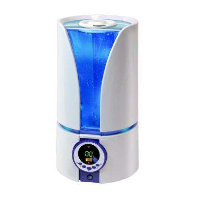 Whisper Quiet Blue Cool Mist Portable Ultrasonic Humidifier with Dual Nozzles and Remote Control